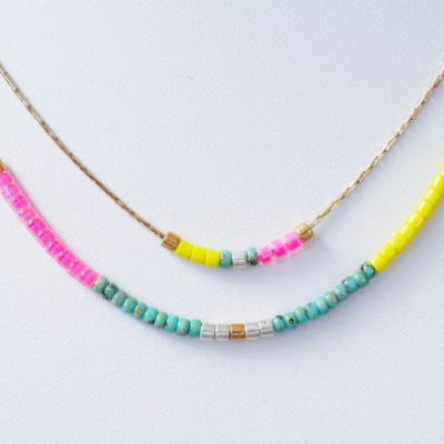 Pop collier double Turquoise